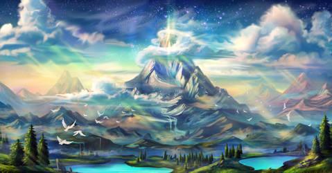 Mountain of faith by MargoAtir