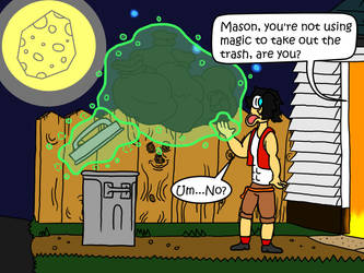Mason's Shortcuts (Art Trade) by Cloudcuckooman