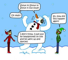 Frosty The Metalhead by Cloudcuckooman