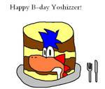 birthday cake of Yoshizzer by Darkhog