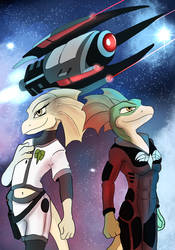 Drex and Tryx as Starfighters by Ferroth