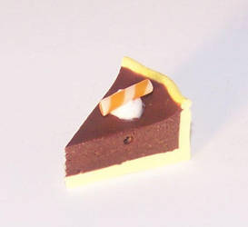 Chocolate orange pie by PookieTookieJewelry