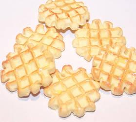 Liege sugar waffles by PookieTookieJewelry