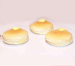Buttermilk pancake charms by PookieTookieJewelry