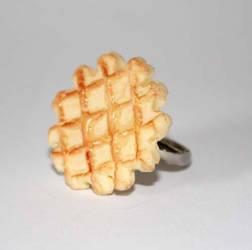 Liege sugar waffle ring by PookieTookieJewelry