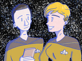 Data and Tasha (TNG) by ArtFromMyPhone