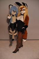 Bunny Yudzuha and bunny Lisa by Aoi-the-kitsune