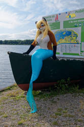 Mermaid Lisa posing as a figurehead by Aoi-the-kitsune