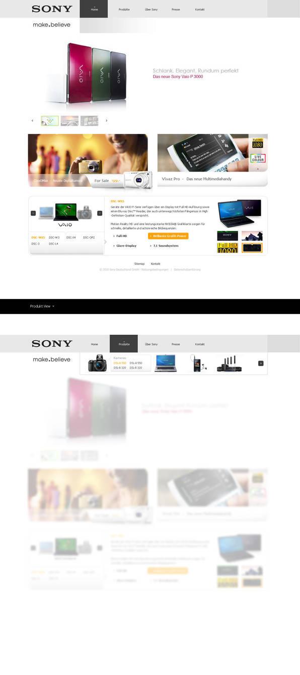 Sony Layout by Tropfich