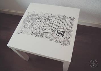 Brooklyn table by Tropfich