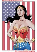 Wonder Woman Lynda Carter color by JLRincon