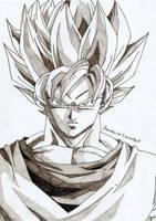 Portrait Super Saiyajin Son-Goku by Devi-chans-Art