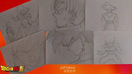 Bocetos de mi adaptacion del manga by jarimasu