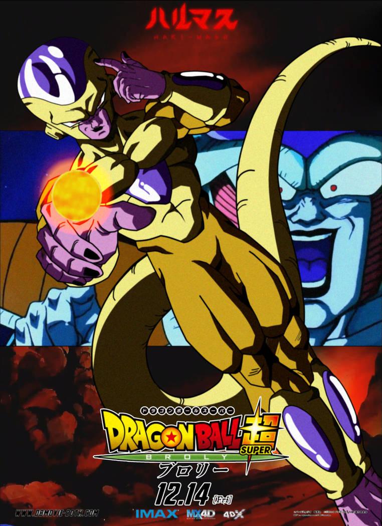 Poster promocional de Golden Freezer de DBSBroly by jarimasu