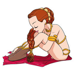 Princess Leia pin-up by mathieub