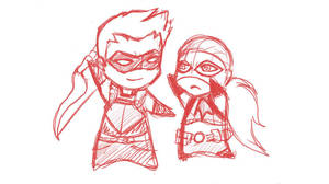 YJ - Artemis and Red Arrow by Catgirlemi7