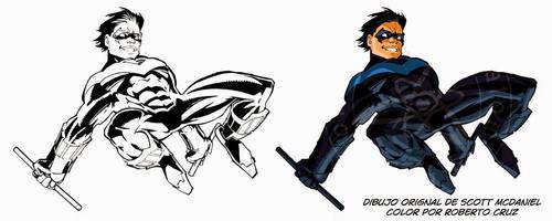 Nightwing - Ejercicio de Color by galeriaatomica