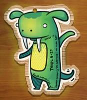 Monster Journal: 8-27 Dogasaur by ShannaBanan-o-rama