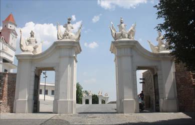 Gates of Bratislava Castle by Quinzy