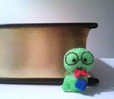Bernie the Bookworm Mini Plushie by msmegas