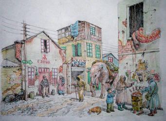 STREET SCENE 2 by bogatyrkhan