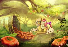 Apple Bucking Season by BlindCoyote
