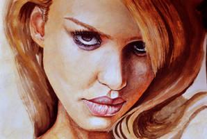 Jessica Alba - Watercolour by NutLu