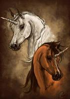 Sketch - unicorns by NutLu