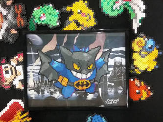 Batman Gengar Perler Beads by Cimenord