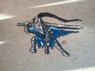 Artorias Dark Souls 1- Pixel Art by Cimenord