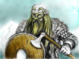 Viking warrior by jormungan13