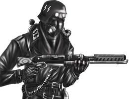 SS stormtrooper -flamethrower by kojakalex
