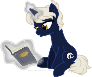 Just Readin' by aeonkrow