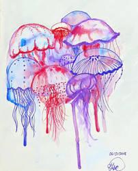 Raining Jellyfish by Unrealistic-Dreamer