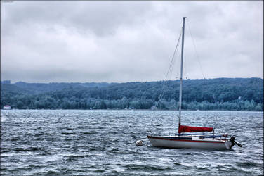 Lonely boat by Foques