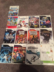 My Wii Game Collection by AmazingArtist13