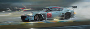 Aston Martin DBR9 - Painting by donpackwood