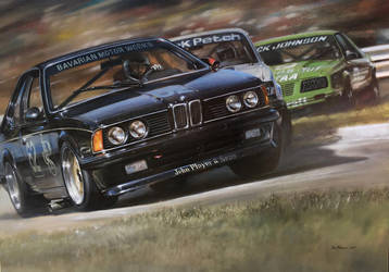 Painting - BMW 635 CSi by donpackwood