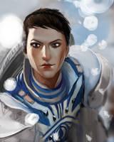 WIP fan art  Dragon Age Cassandra Pentaghast by Jineda13