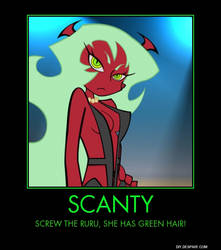 Panty and Stocking Demotivational Poster: Scanty by Gamermaster42