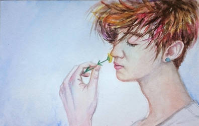 Boy with flower. by Oeei