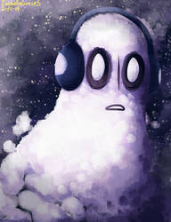 Napstablook by IsabellaGraceS