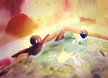 Green Dragon Bath House by azulacat14