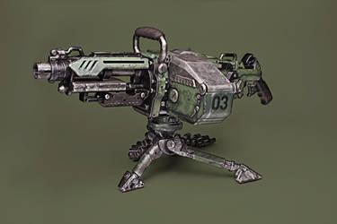 Nerf Vulcan EBF-25 WWII Mod by meandmunch