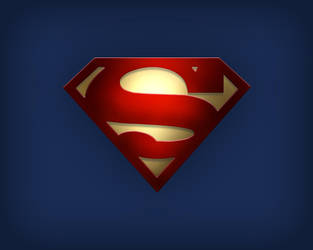 Superman Logo with Gold by thetyrant