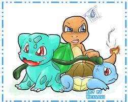 Pokemon Trio by Kennaki