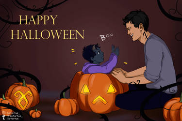 Halloween Alec and Blueberry by NopeXKot