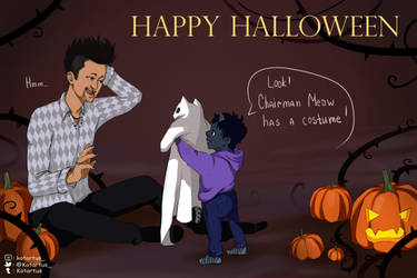 Halloween Magnus and Blueberry by NopeXKot