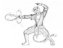 FIREBENDER PAUL by SirPaulTheIII