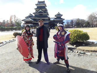 Me at Matsumoto Castle by inisipis